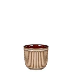 "Abel pot round cream - 4.75x4.25"""
