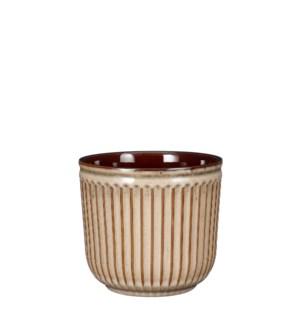 "Abel pot round cream - 6.75x6"""