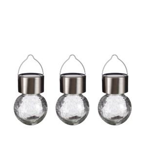 "Ball hanging glass white led display - 2.25x3.5"""