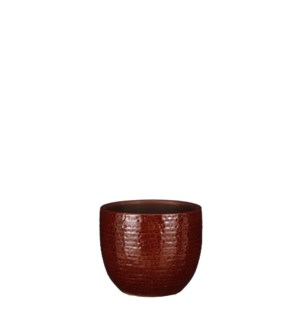 "Carrie pot round brown glaze - 5.5x4.75"""