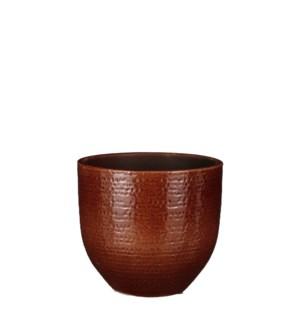 "Carrie pot round brown glaze - 8x7"""