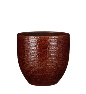 "Carrie pot round brown glaze - 11.5x10.25"""