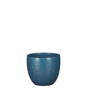 """Carrie pot round blue glaze - 6.25x5.5"""""""