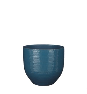 """Carrie pot round blue glaze - 8x7"""""""