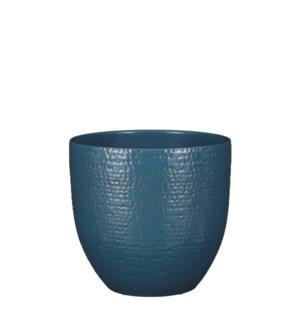 """Carrie pot round blue glaze - 9.5x8.75"""""""