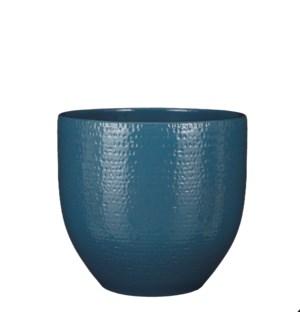 """Carrie pot round blue glaze - 11.5x10.25"""""""