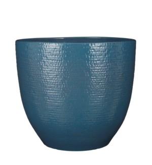 """Carrie pot round blue glaze - 13.75x12.5"""""""