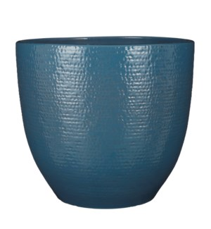 """Carrie pot round blue glaze - 15.25x14.25"""""""