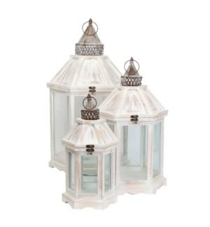 Camondo lantern white set of 3 - l38xw34xh70cm