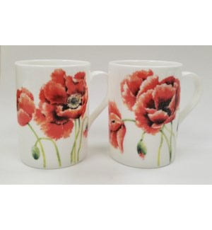 Garden Poppy Lucy Mugs Set