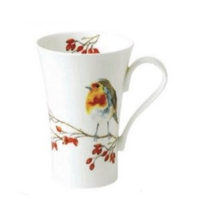 Birds Latte Mug - Robin Set