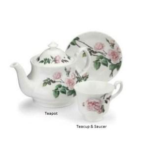 David Austin English Rose Teacup & Saucer Set