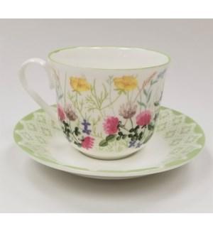 Nina Campbell English Meadow Chatsworth Teacup & Saucer Set