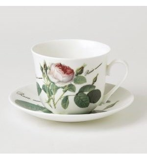 Redoute Rose Chatworth Breakfast Cup & Saucer Set