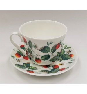 Alpine Strawberry Chatsworth Breakfast Cup & Saucer Set