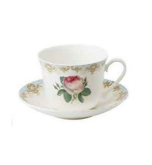 Vintage Roses Chatsworth Breakfast Cup & Saucer Set