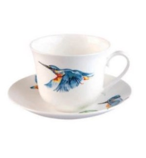 Kingfisher Glory Chatworth Breakfast Cup & Saucer Set