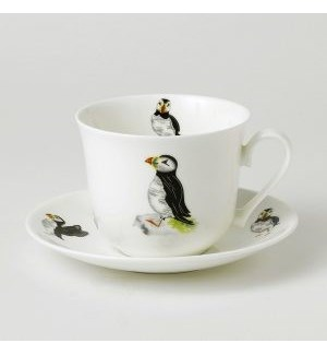 Puffin Parade Laura Breakfast Cup & Saucer Set