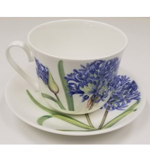 Agapanthus Chatsworth Breakfast Cup & Saucer Set