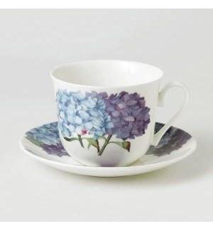 Hydrangea Breakfast Cup & Saucer Set