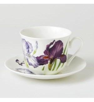 Iris Chatsworth Breakfast Cup & Saucer Set