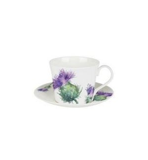 Thistles Lucy Breakfast Cup & Saucer Set