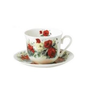 Poppy Chatsworth Breakfast Cup & Saucer Set