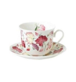 Sweet Pea Chatsworth Breakfast Cup & Saucer Set
