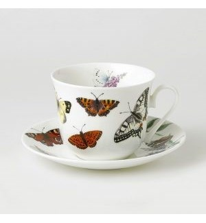 Butterfly Garden Chatworth Breakfast Cup & Saucer Set
