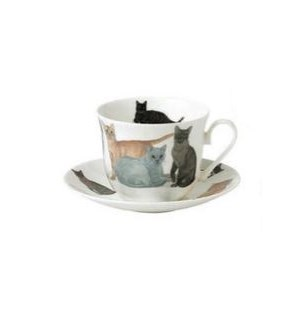 Cats Galore Chatworth Breakfast Cup & Saucer Set