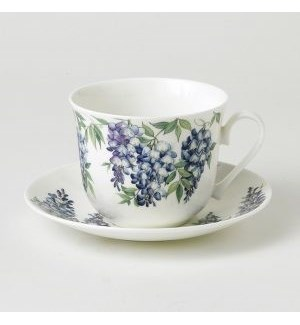 Wisteria Chatsworth Breakfast Cup & Saucer Set