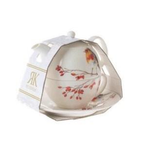 Birds Tea for One - Robin