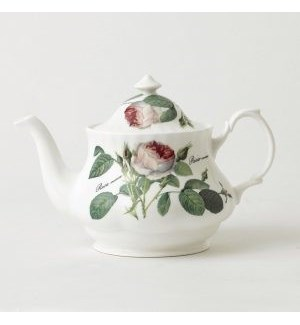 Redoute Rose Anne Teapot
