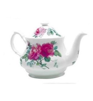 English Rose Traditional Teapot - Pink