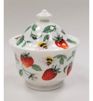 Alpine Strawberry Covered Sugar Bowl Set