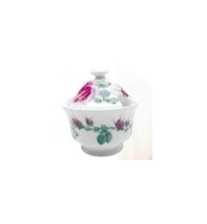 English Rose Covered Sugar Bowl - Pink Set