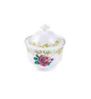 Vintage Roses Covered Sugar Bowl Set