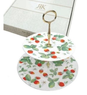 Alpine Strawberry 2-Tier Cake Stand