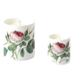 Redoute Rose Small Candle Set