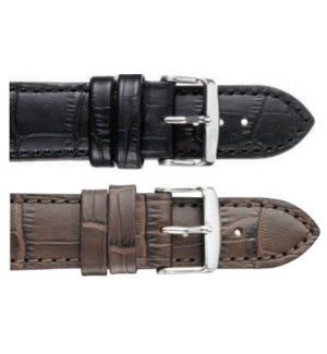 Flat Stitched Alligator Grain Leather