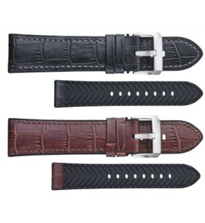 Alligator Grain Leather w. Silicone Lining