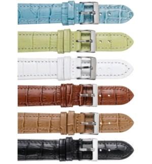 Stitched Alligator Grain Leather