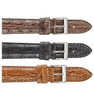 Genuine Crocodile Padded Stitched