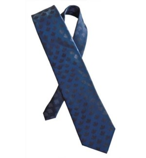 Canadian Souvenir Navy Blue Maple Leaf Silk Tie