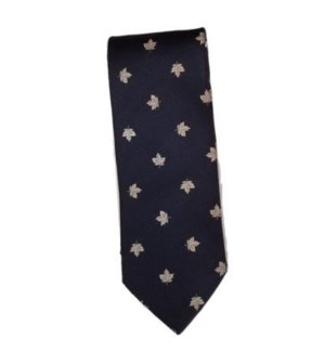Canadian Souvenir Blue Maple Leaf Silk Tie