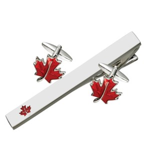 Canadian Souvenir Tie Bar & Cufflink Set