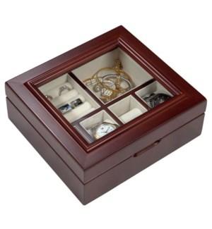 Wooden Watch & Jewellery Box