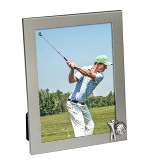 Golf Tee And Ball Icon Frame