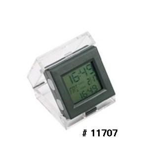 Dual Time Alarm Clock - Grey