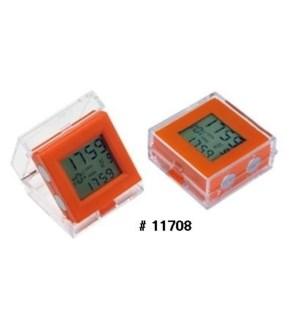 Dual Time Alarm Clock - Orange